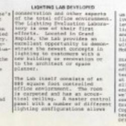 Lighting Evaluation Laboratory Opens